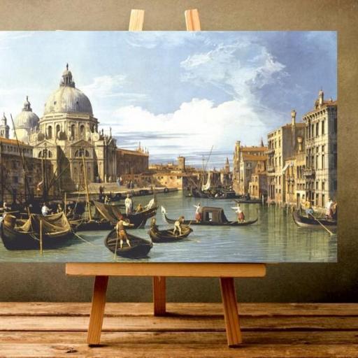 Cuadro en lienzo Venecia góndola Canaletto alta resolución [1]