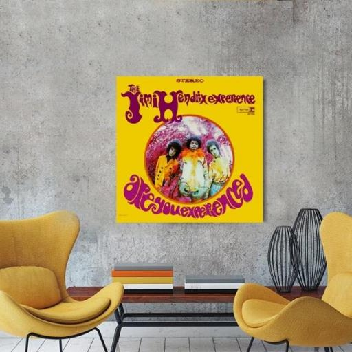 Cuadro en lienzo cuadrado Jimi Hendrix are you experienced [1]