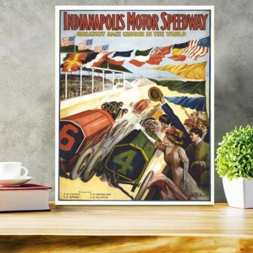 Cuadro en lienzo  Carreras Indianapolis [1]