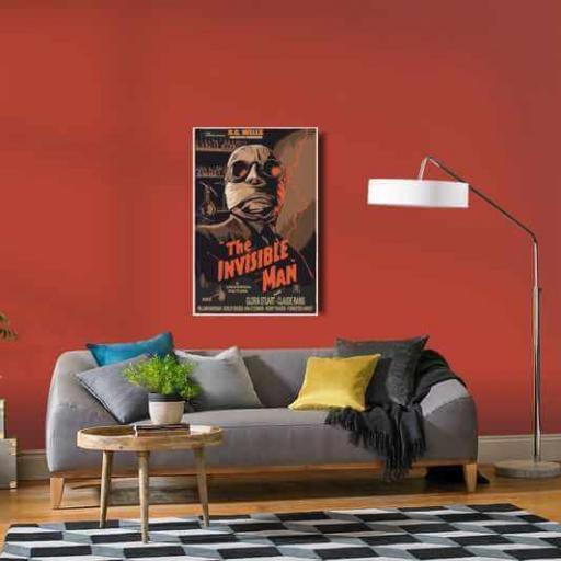 Cuadro en lienzo el hombre invisible póster película clásica [1]