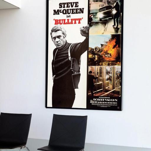 Cuadro en lienzo película Bullit Steve MacQueen [1]