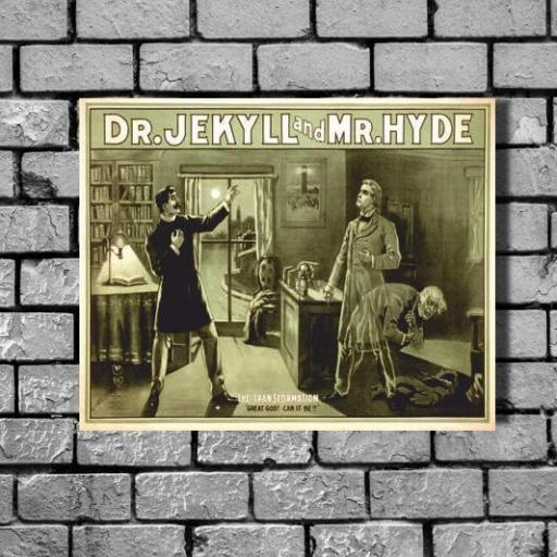 Cuadro en lienzo Jekyll y Hyde [1]