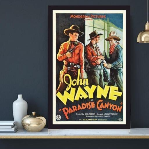 Cuadro en lienzo clásico película John Wayne Paradise Canyon  [1]