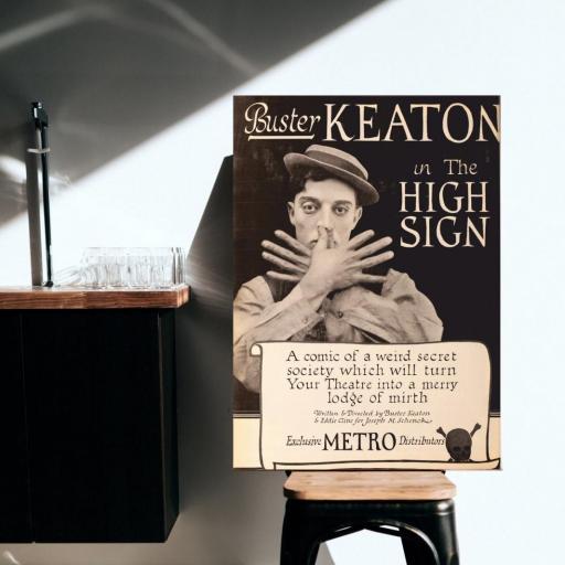 Cuadro en lienzo cine clásico vintage Buster Keaton [1]