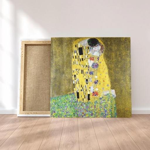 Cuadro en lienzo cuadrado el beso Gustav Klimt, Alta resolución. [1]