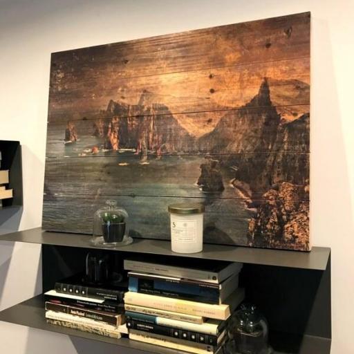 Cuadro de madera isla de madeira. Impresión a color sobre madera [1]