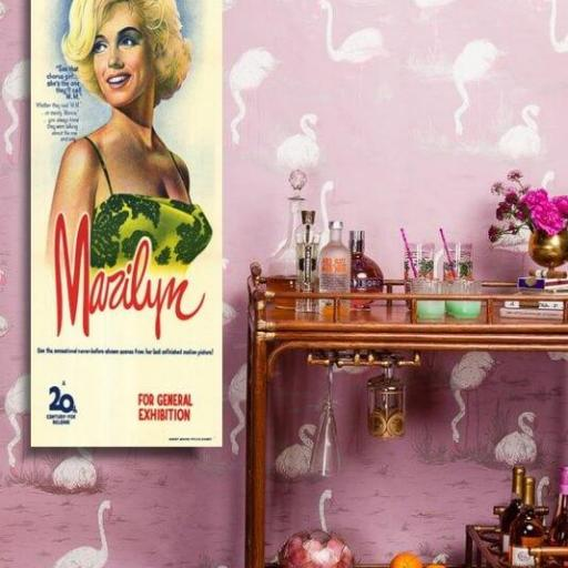 Cuadr o en lienzo alargado Marilyn Monroe Rock Hudson  [1]