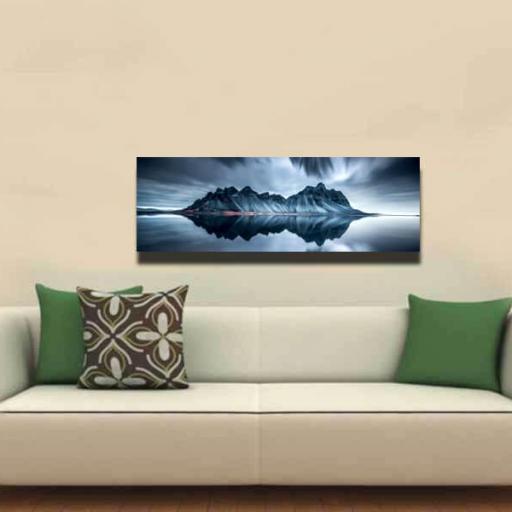 Cuadro en lienzo alargado fotografía artística paisaje simétrico [1]