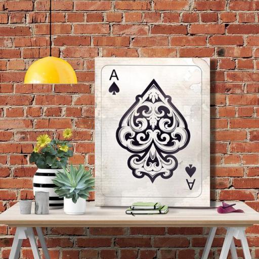 Cuadro en lienzo Carta as de espadas ace of spades naipes alta resolución [1]