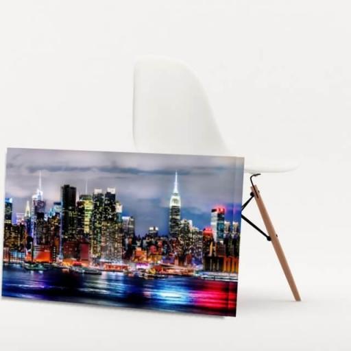 Cuadro en lienzo ciudad de Nueva York vista nocturna [1]