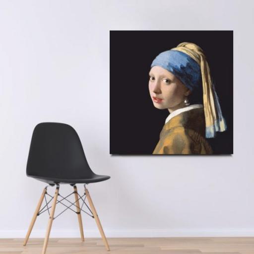 Cuadro en lienzo pintura clásica joven de la perla Vermeer [1]