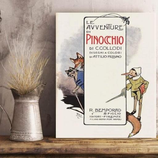 Cuadro en lienzo para habitación de niños Pinocho [1]