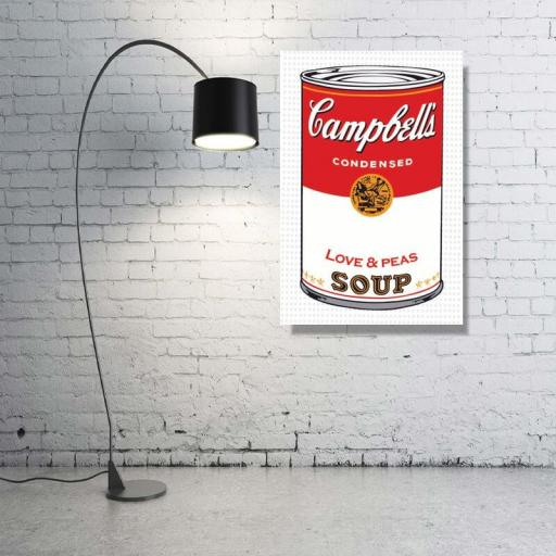 Cuadro en lienzo moderno pop art sopa estilo Warhol [1]