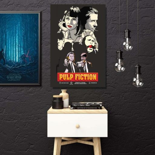 Cuadro en lienzo cartel alternativo película Pulp Fiction Travolta Turman [1]