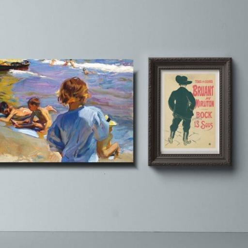 Cuadro en lienzo de Sorolla niños playa impresionismo [1]