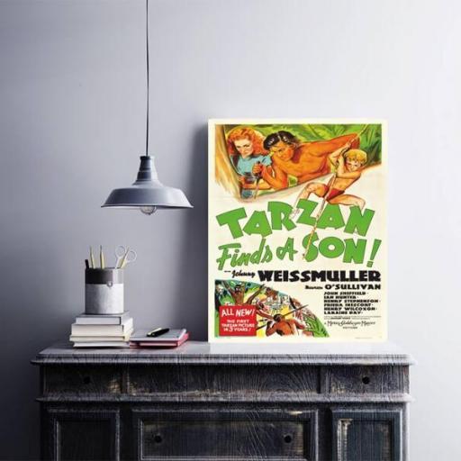 Cuadro en lienzo Tarzan y su hijo [1]