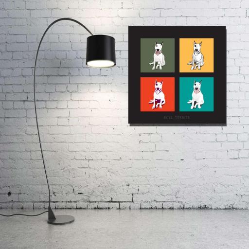 Cuadro en lienzo cuadrado pop art Terrier [1]