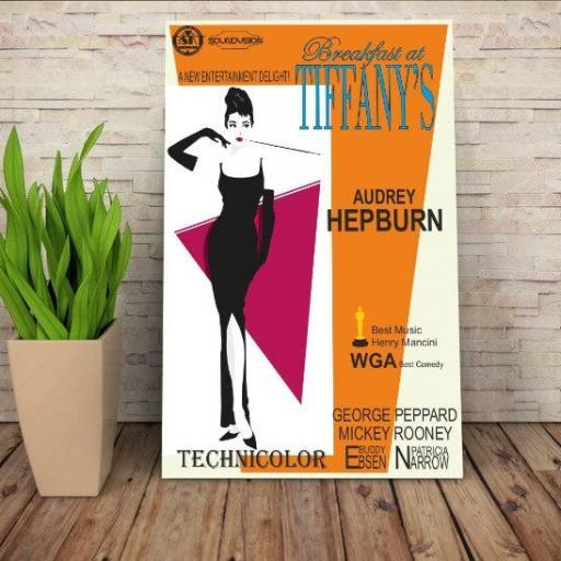 Cuadros en lienzo Breakfast at tiffany's Audrey Hepburn [1]