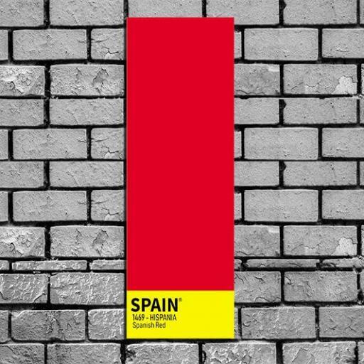 Cuadro lienzo alargado alta resolución creación de España rojo y gualda bandera de España [1]