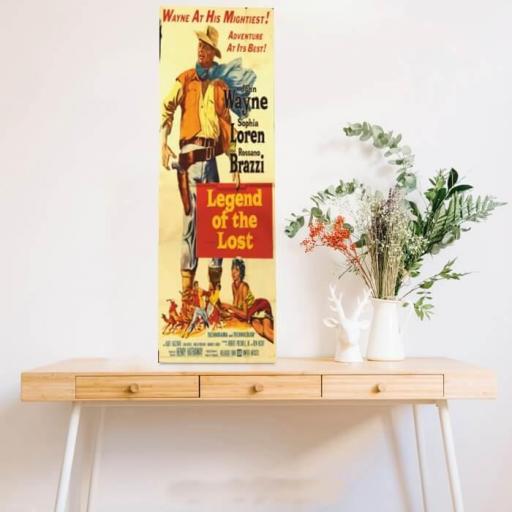 Cuadro en lienzo alargado oeste western John Wayne Legend of the lost [1]