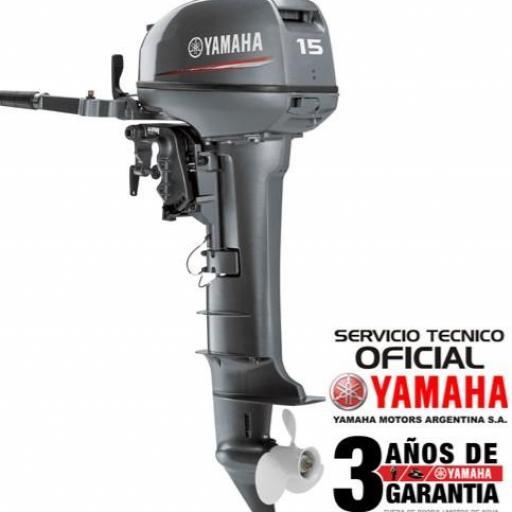 "Motor YAMAHA 15 HP 2T PATA LARGA ""0KM""  [0]"