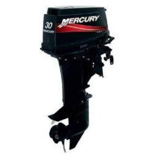 Motor MERCURY 30 HP 2T LINEA SUPER 2 Tiempos Con Caña, Pata Larga [0]