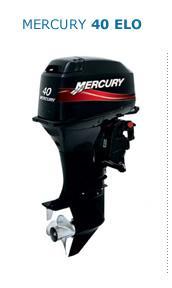Motor MERCURY 40ELPTO 2T Pata Larga, Arranque Eléctrico, Inyección de Aceite, Power Trim