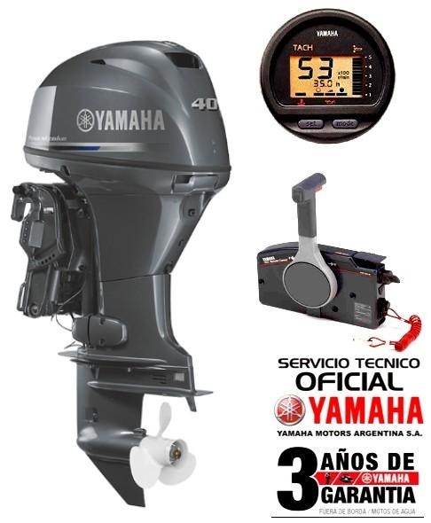 "Motor YAMAHA 40 HP 4T EFI, Arranque Eléctrico, Power Trim, Instrumental Digital - PATA LARGA ""0KM"""
