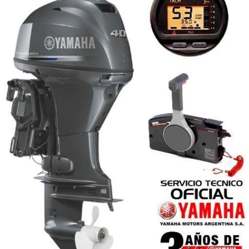 "Motor YAMAHA 40 HP 4T EFI, Arranque Eléctrico, Power Trim, Instrumental Digital - PATA LARGA ""0KM"" [0]"