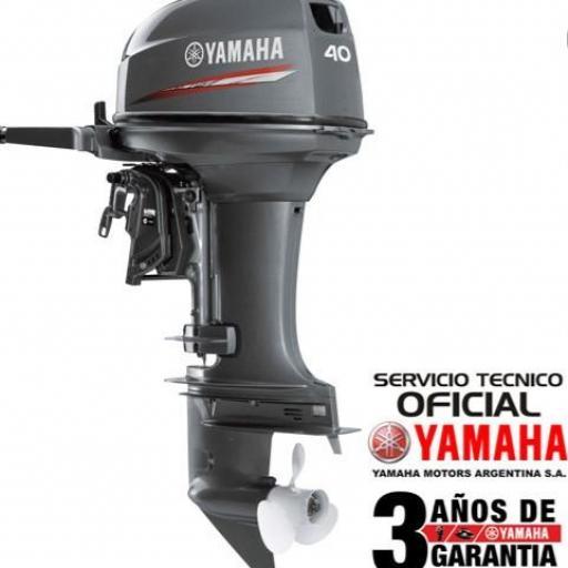 """Motor YAMAHA 40 HP 2T con caña PATA LARGA """"0KM"""""""