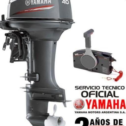 """Motor YAMAHA 40 HP 2T Arranque Eléctrico, Power Trim y Mandos a Distancia - PATA LARGA """"0KM"""""""