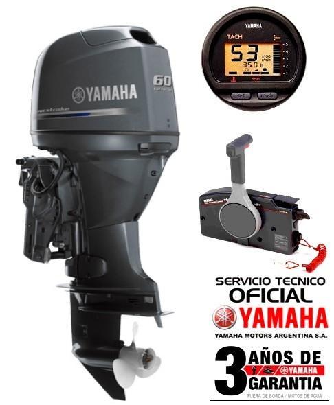"""Motor YAMAHA 60 HP 4T, Inyección Electrónica, Arranque Eléctrico, Power Trim, Intrumental Digital - PATA LARGA """"0KM"""""""