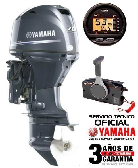"""Motor YAMAHA 70 HP 4T, 16 válvulas, Inyección Electrónica, Arranque Eléctrico, Power Trim, Intrumental Digital Multifunción - PATA LARGA """"0KM"""""""