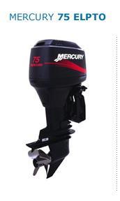 Motor MERCURY 75ELPTO HP 2T Arranque Eléctrico, Power Trim, Inyección de Aceite, Instrumental Digital, Mandos a Distancia (Pata Larga)