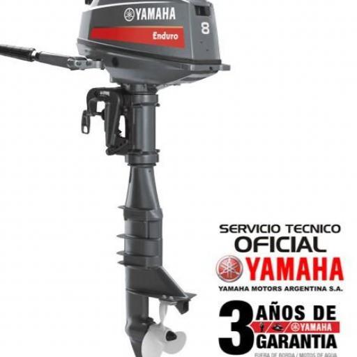 """Motor YAMAHA 8 HP """"ENDURO"""" 2T PATA LARGA """"0KM"""""""