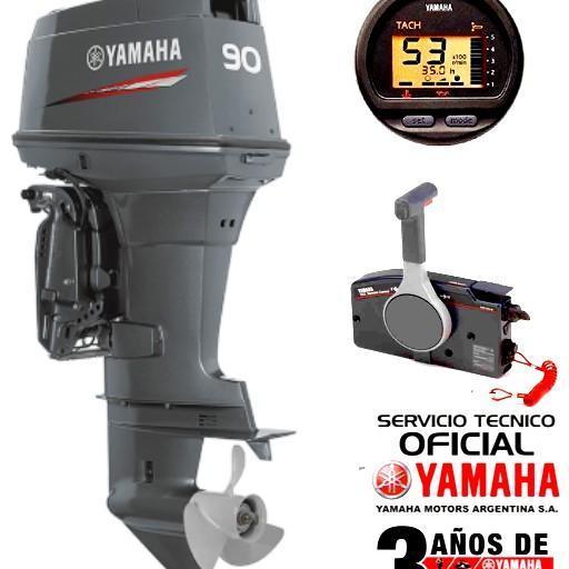 Motro YAMAHA 90 HP 2T Arranque Eléctrico, Power Trim, Inyección de Aceite, Instrumental Digital, Mandos a Distancia - PATA LARGA [0]