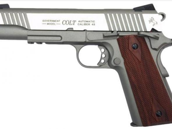 Pistola Airsoft Colt 1911 Acero Inox Full Metal Blowback 6mm