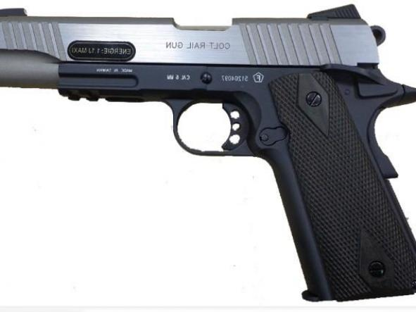 Pistola Airsoft Colt 1911 Bitono full Metal Blowback 6mm Bbs