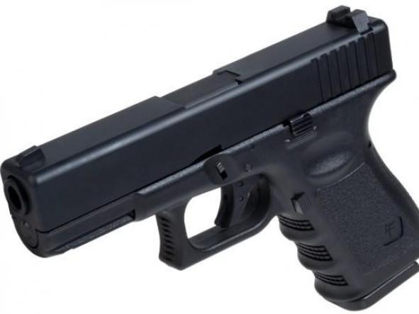 Pistola Airsoft G 23 Saigo Blowback 6mm NEGRA