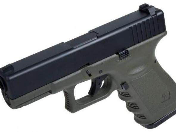 Pistola Airsoft G 23 Saigo Blowback 6mm verde