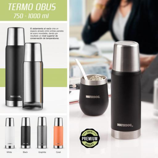 Termo Waterdog  OBUS 1000 BK 1L
