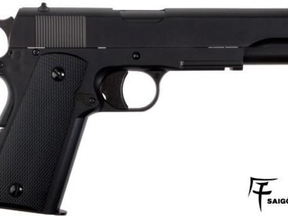 Pistola Airsoft Saigo 1911 CORREDERA FIJA 6mm