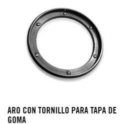 ARO CON TORNILLO PARA TAPA DE GOMA