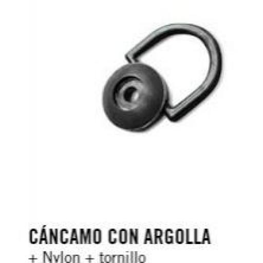 CÁNCAMO CON ARGOLLA + Nylon + tornillo