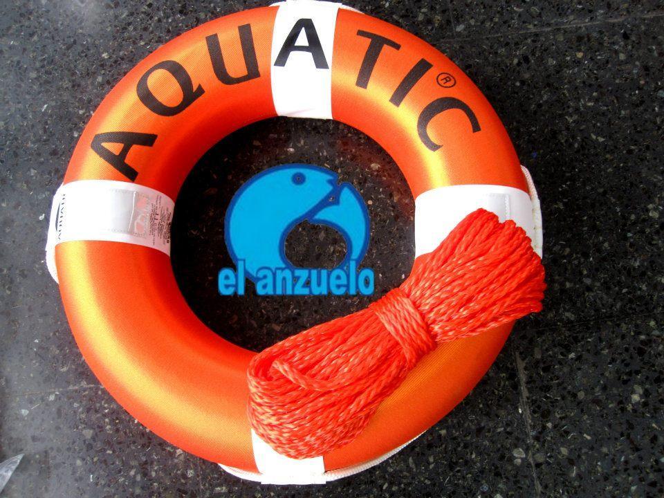 Salvavidas circular Naranja + Cabo