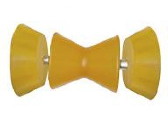 Rodillo proa doble minicono con tapas conicas laterales 95 mm Termoplastico