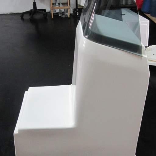 Consola cuadrada con asiento sin puerta [2]