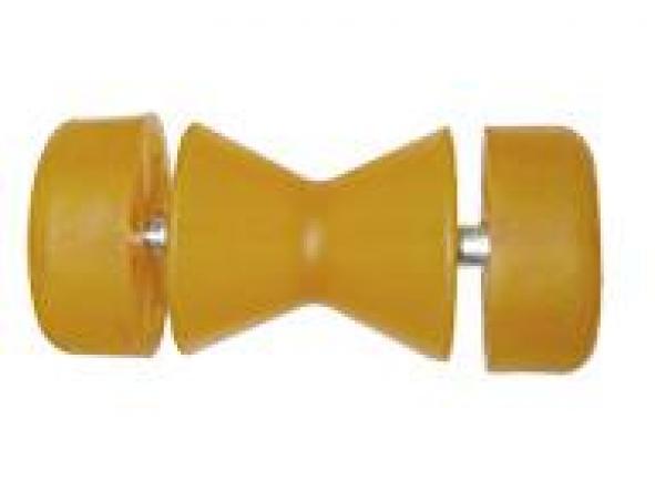 Rodillo proa doble minicono con tapas redondas laterales 85 mm Termoplastico