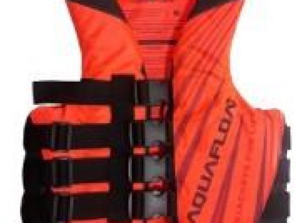 Chaleco aquafloat Ski - 4 Tiras Naranja Flúo / Negro T12