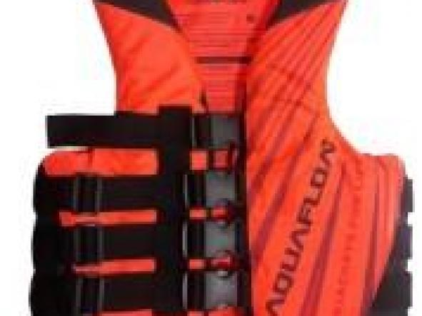 Chaleco aquafloat Ski - 4 Tiras Naranja Flúo / Negro T14